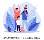 happy homosexual couple with... | Shutterstock .eps vector #1763824037