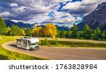 Autumn Rv Motor Home Camper On...