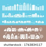 silhouette of town and city | Shutterstock .eps vector #1763834117