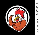Cartoon Angry Rooster Mascot...