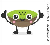 cute kiwi fruit mascot vector...   Shutterstock .eps vector #1763847644