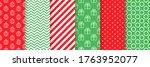 xmas seamless pattern. vector.... | Shutterstock .eps vector #1763952077
