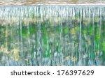 weir on a river in summer | Shutterstock . vector #176397629