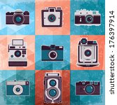 colorful collection of retro... | Shutterstock .eps vector #176397914