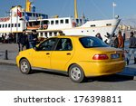 istanbul   dec 8   yellow taxis ... | Shutterstock . vector #176398811