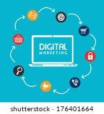 digital design over blue...   Shutterstock .eps vector #176401664