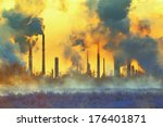 environmental pollution | Shutterstock . vector #176401871