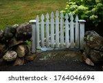 Rustic Small White Garden Gate  ...