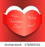 abstract glow soft hearts for... | Shutterstock .eps vector #176405141