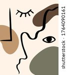 abstract line drawing eyes ...   Shutterstock .eps vector #1764090161