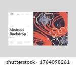 abstract homepage illustration. ... | Shutterstock .eps vector #1764098261