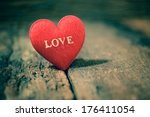 valentines day background with... | Shutterstock . vector #176411054