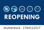 reopening text and practical... | Shutterstock .eps vector #1764112217