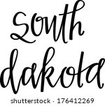 south dakota | Shutterstock .eps vector #176412269