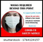 wear face mask sign and symbol. ...   Shutterstock . vector #1764124157