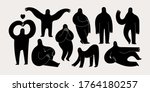 set of various strange... | Shutterstock .eps vector #1764180257