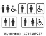 Male And Female Toilet Icon....