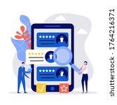 hiring and recruitment concept. ... | Shutterstock .eps vector #1764216371