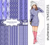 wallpaper  wrapper fabric nice... | Shutterstock .eps vector #176422151