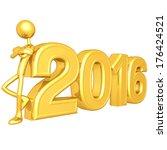 leaning on 2016   Shutterstock . vector #176424521