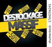 destockage  french translation... | Shutterstock .eps vector #1764256241
