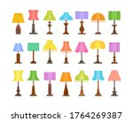vintage table lamps with...   Shutterstock .eps vector #1764269387
