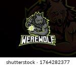 Werewolf Mascot Sport Logo...