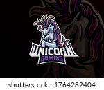 unicorn mascot sport logo... | Shutterstock .eps vector #1764282404