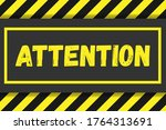 attention sign on a background... | Shutterstock .eps vector #1764313691