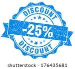 discount 25  blue grunge stamp | Shutterstock . vector #176435681