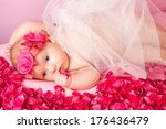 little princess with a crown of ... | Shutterstock . vector #176436479