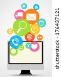 business internet on  different ... | Shutterstock . vector #176437121
