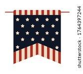 flag pennant of united states.... | Shutterstock .eps vector #1764397244