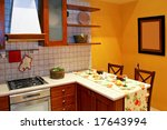 kitchen countertop in country... | Shutterstock . vector #17643994