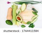 series of fresh organic raw... | Shutterstock . vector #1764411584