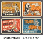 circus performers  animals ... | Shutterstock .eps vector #1764415754