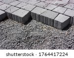 Gray Paving Slabs In The...