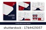 creative business bi fold... | Shutterstock .eps vector #1764425057
