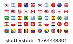 set of flag in circle and round | Shutterstock .eps vector #1764448301