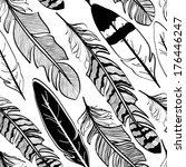 seamless pattern of tribal... | Shutterstock .eps vector #176446247