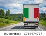 A  Truck With The National Flag ...