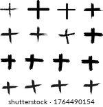 plus grunge vector illustration ... | Shutterstock .eps vector #1764490154