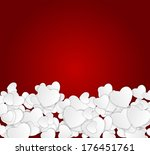 happy valentines day card with... | Shutterstock . vector #176451761