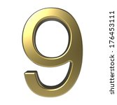 golden number 9 isolated on... | Shutterstock . vector #176453111