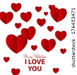 happy valentines day card with... | Shutterstock . vector #176453471