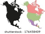 highly detailed continent... | Shutterstock .eps vector #176458409
