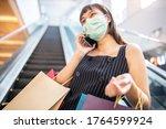 Asian Woman Wearing Face Mask....