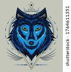 Wolf Face Vector Design. Wolf...