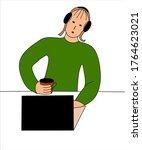 laconic vector for design.... | Shutterstock .eps vector #1764623021