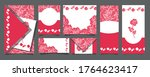 set of postcards with beautiful ... | Shutterstock .eps vector #1764623417